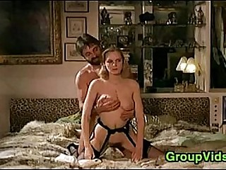 Blindfolded Blonde Pleasured In An Orgy