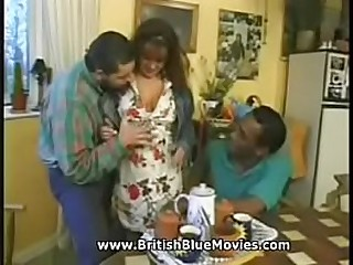 Busty pornstar Lorrain Ansell takes Omar Williams huge black cock in her tight arsehole!