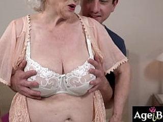 Granny Norma's vintage twat banged