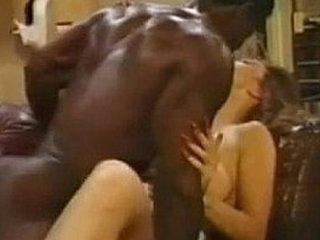 Black god fucks brunette milf