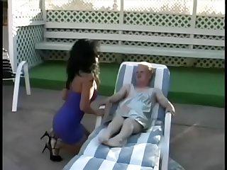 2 midget , dwarf retro sex